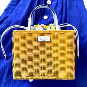 Kate Spade sam wicker lemon zest medium satchel